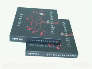 cd book packaging red foil